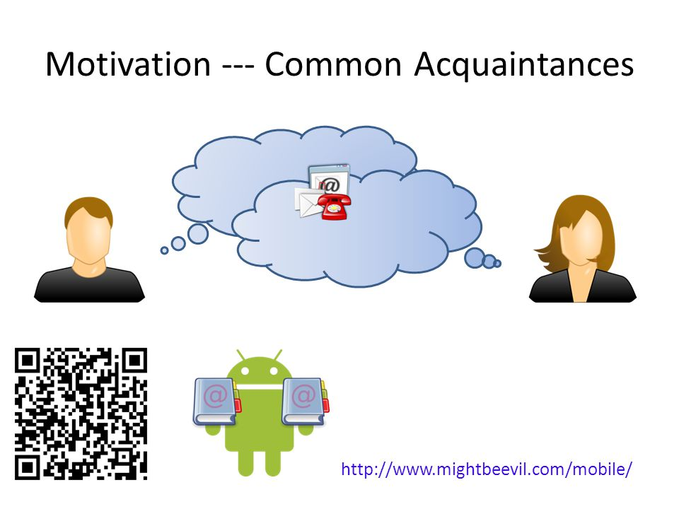 Motivation --- Common Acquaintances