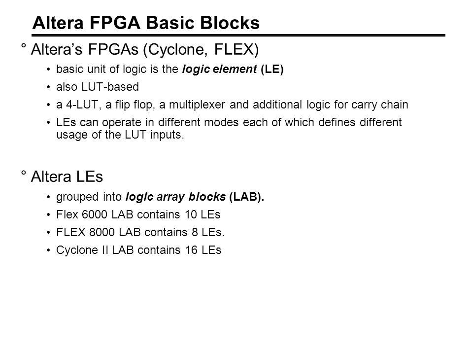 Altera FPGA Basic Blocks