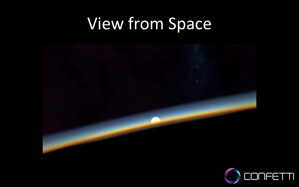 View from Space Realistic atmosphere with fictional space objects.