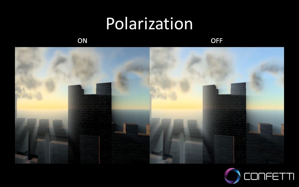 Polarization ON. OFF.