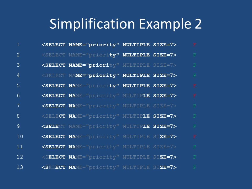 Simplification Example 2