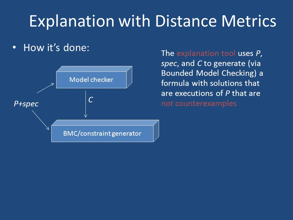Explanation with Distance Metrics