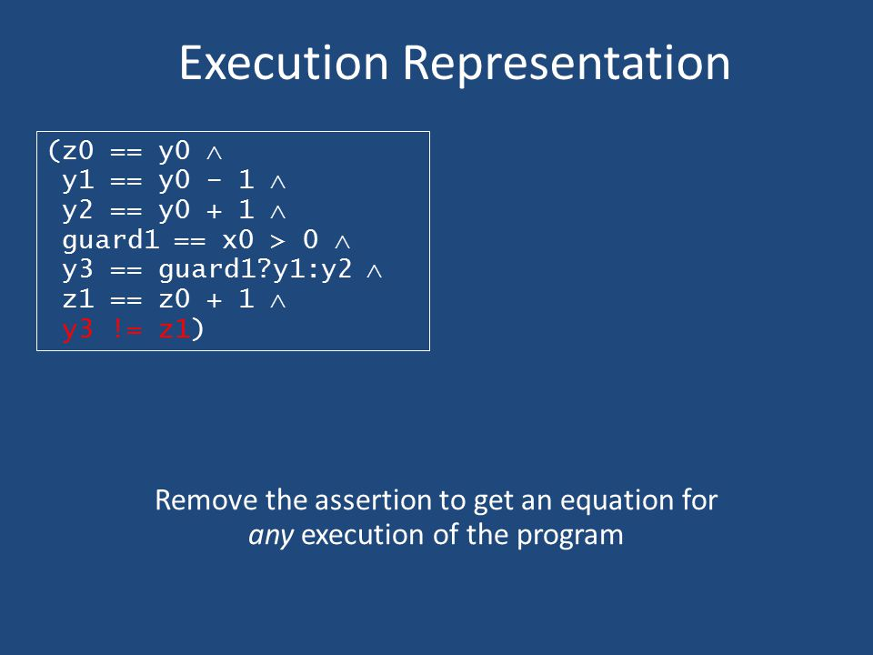 Execution Representation