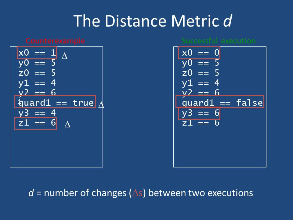 d = number of changes (s) between two executions