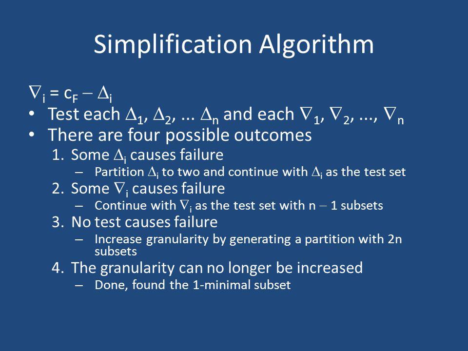 Simplification Algorithm