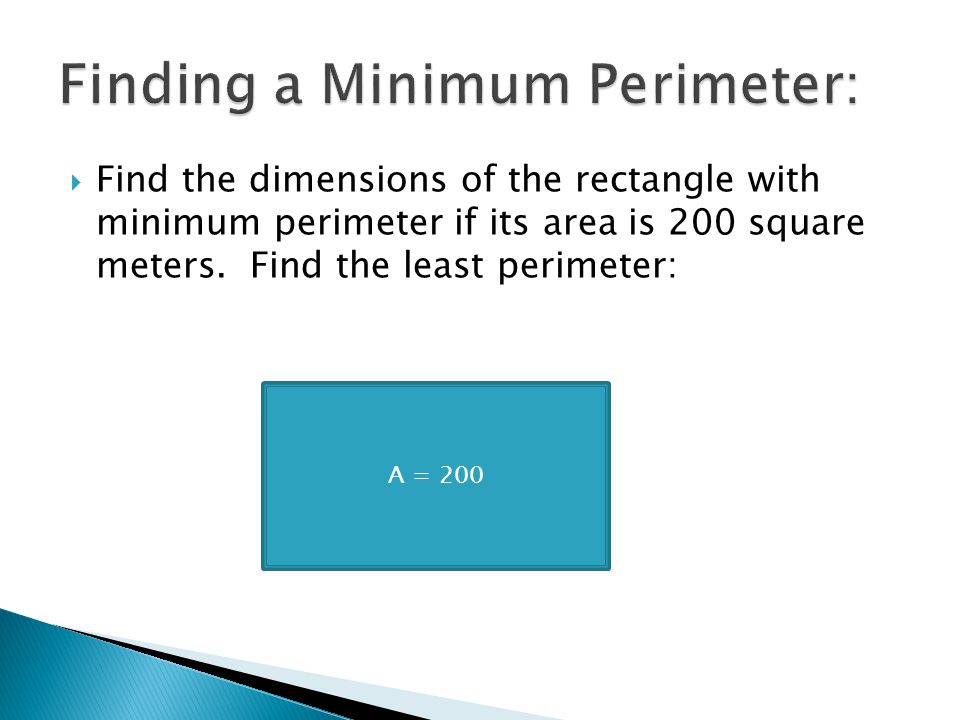 Finding a Minimum Perimeter:
