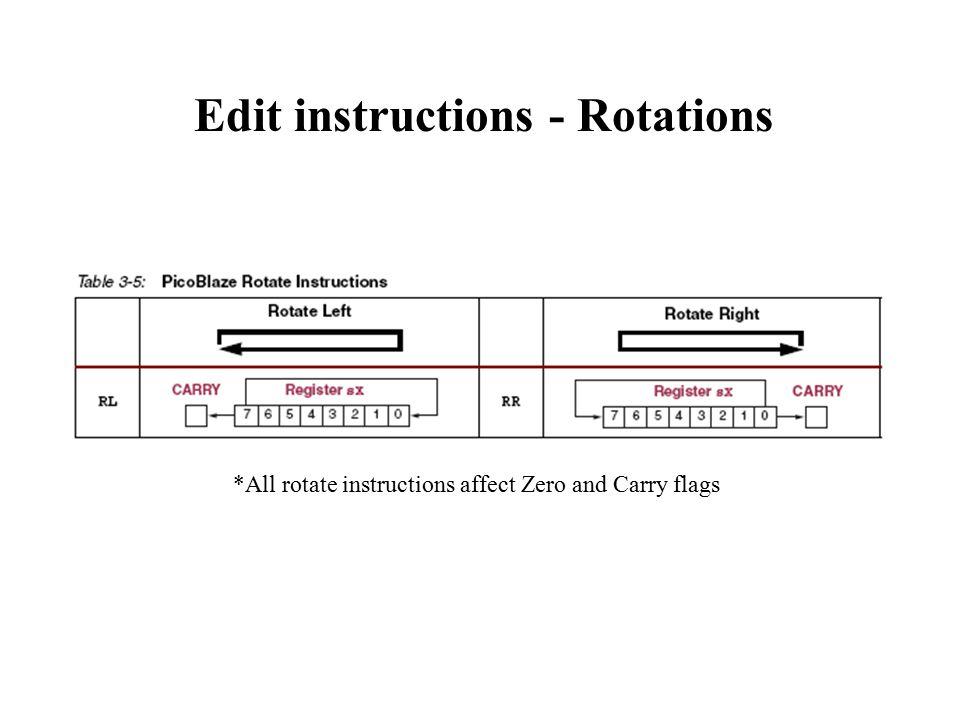 Edit instructions - Rotations