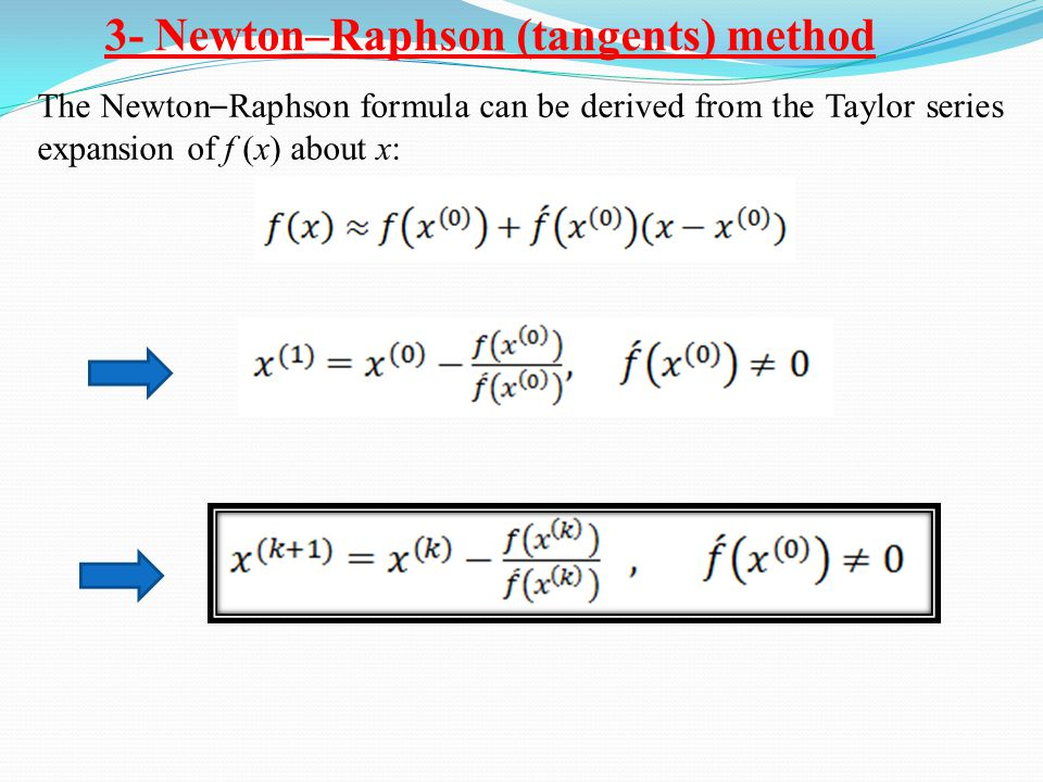 3- Newton–Raphson (tangents) method