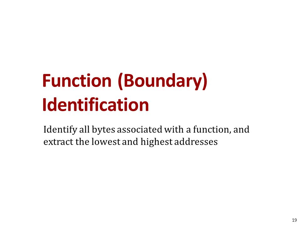 Function (Boundary) Identification