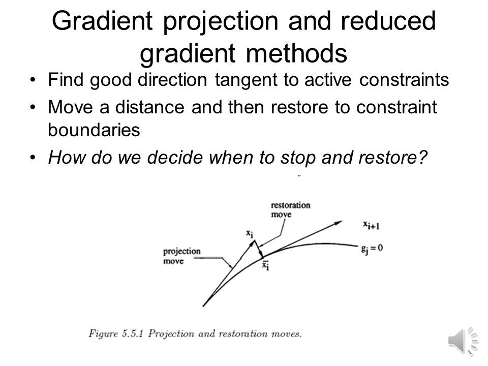 Gradient projection and reduced gradient methods