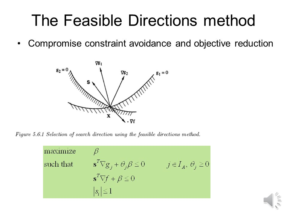 The Feasible Directions method