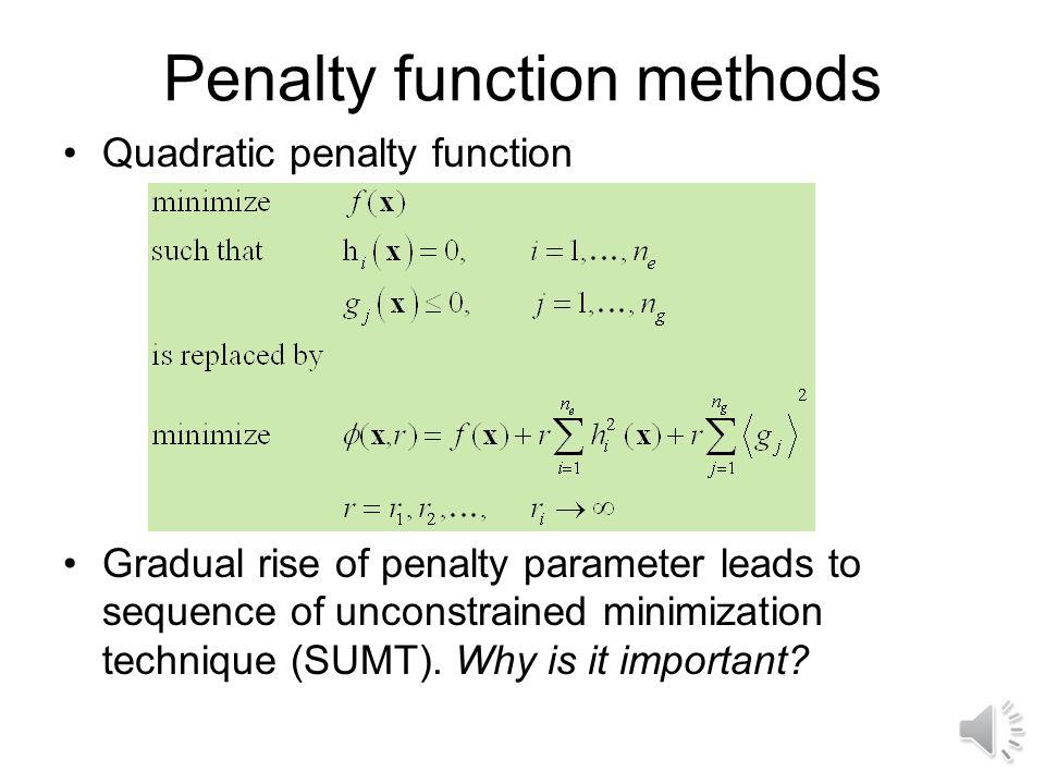 Penalty function methods