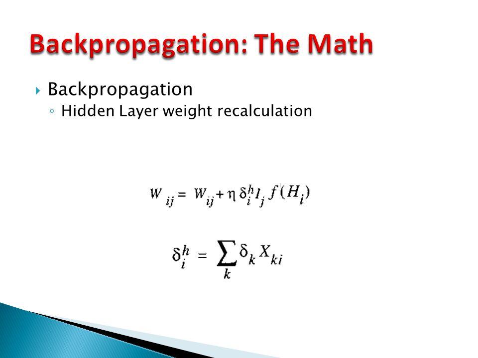 Backpropagation: The Math