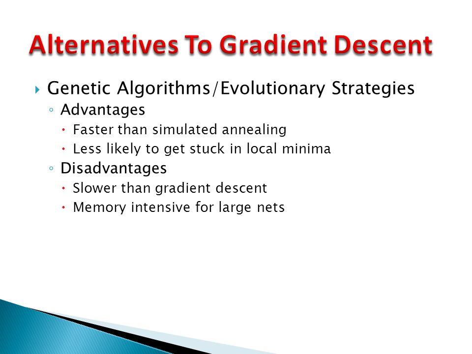 Alternatives To Gradient Descent