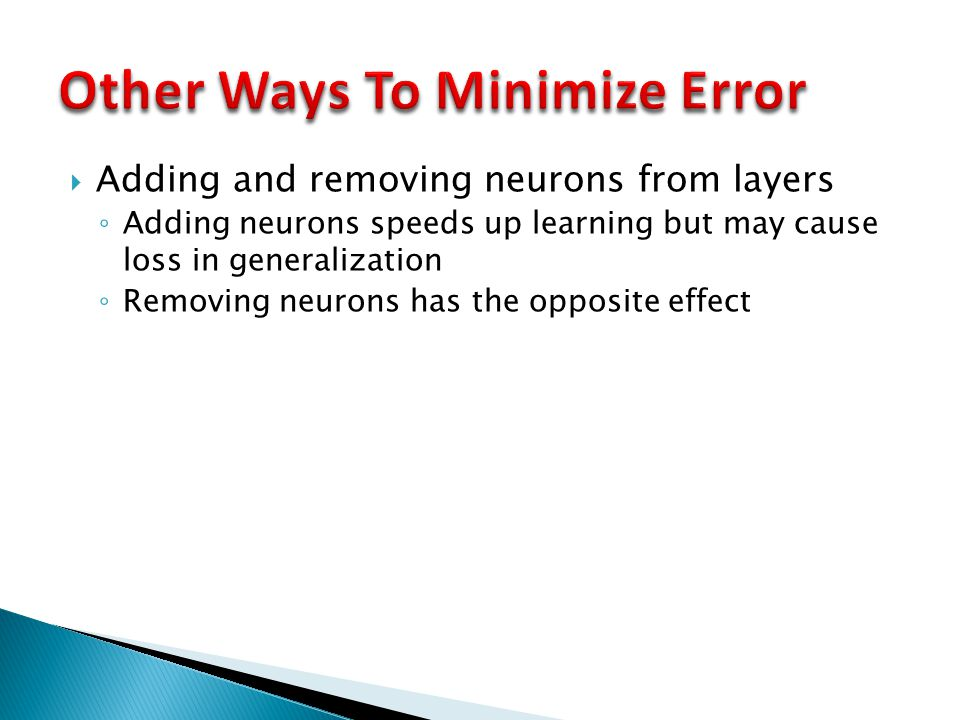Other Ways To Minimize Error