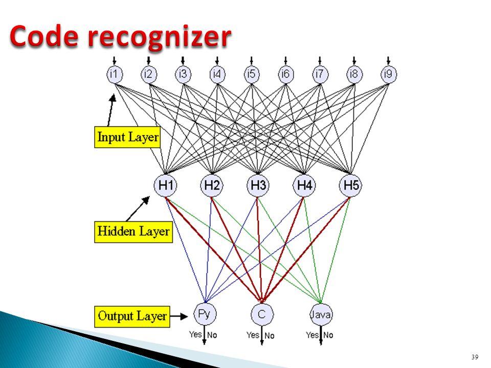 Code recognizer