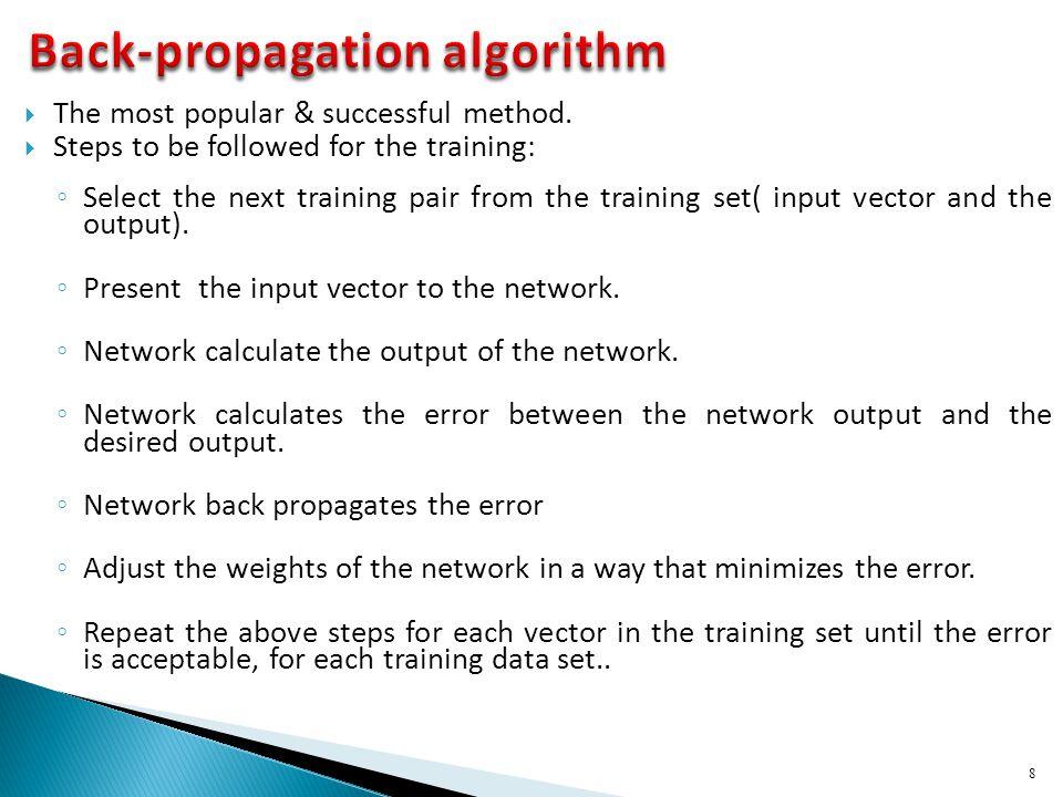 Back-propagation algorithm