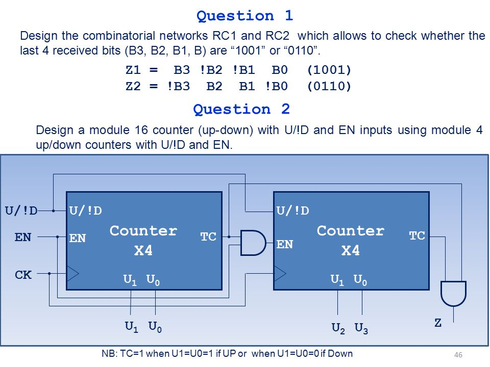Question 1 Question 2 Counter X4