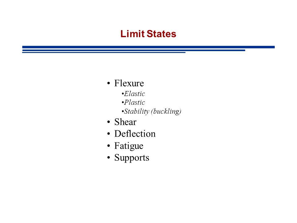 Limit States Flexure Shear Deflection Fatigue Supports Elastic Plastic