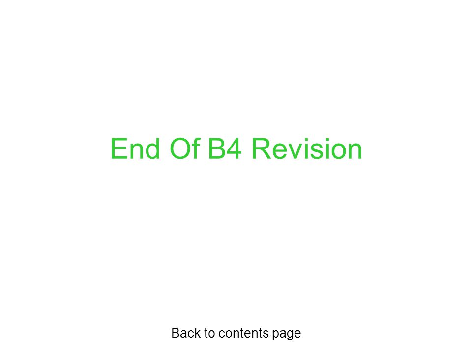 End Of B4 Revision Back to contents page