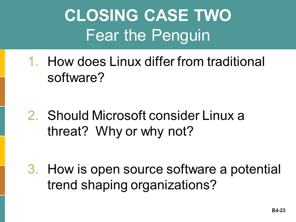 CLOSING CASE TWO Fear the Penguin