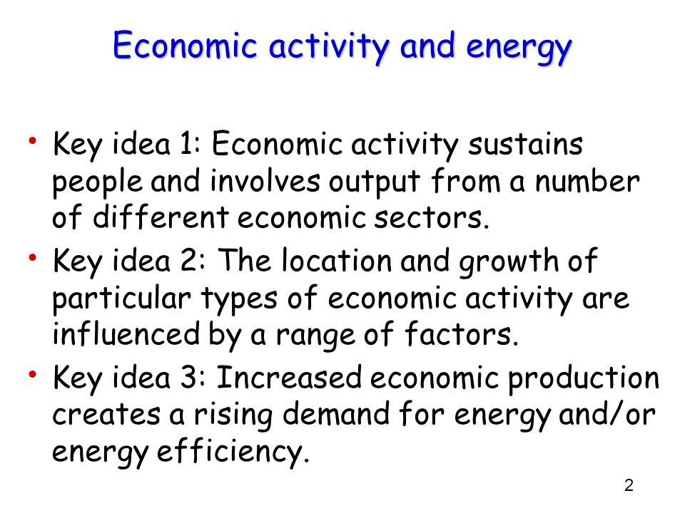 Economic activity and energy
