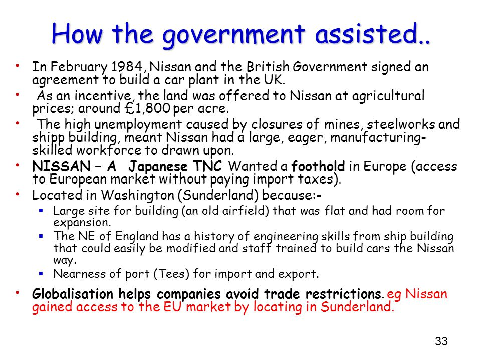 How the government assisted..