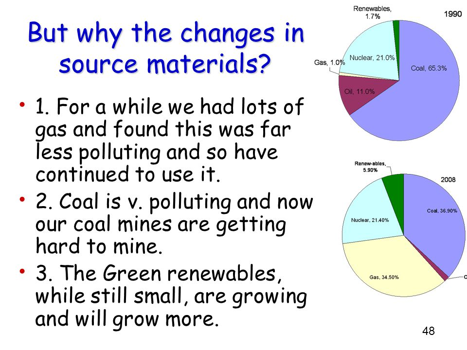 But why the changes in source materials
