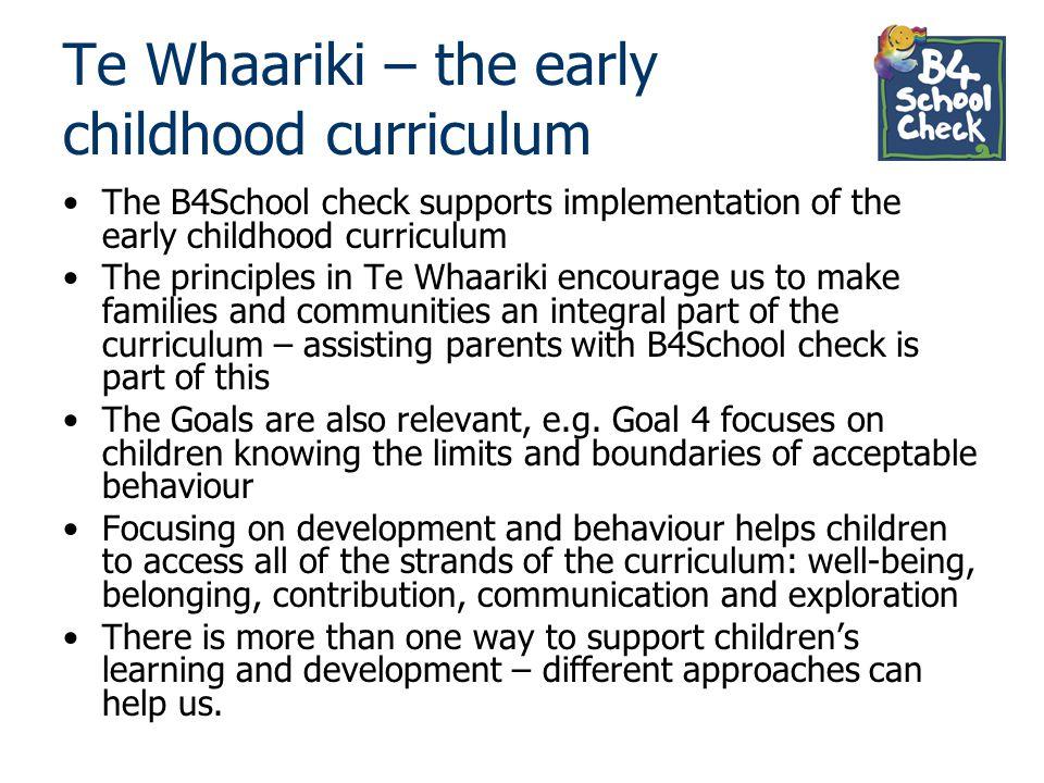Te Whaariki – the early childhood curriculum