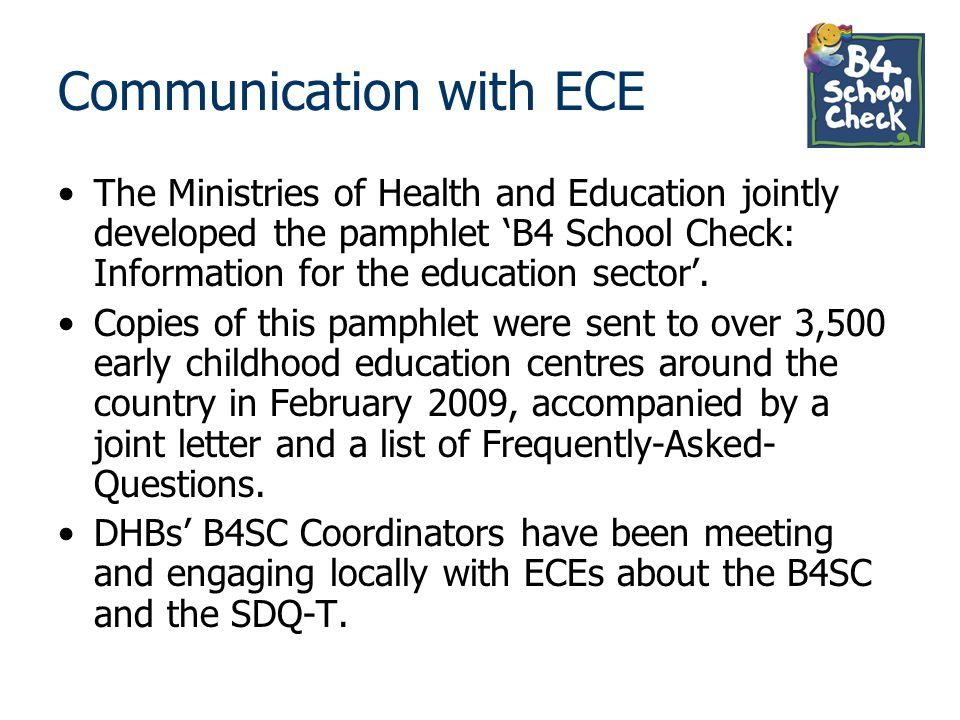 Communication with ECE