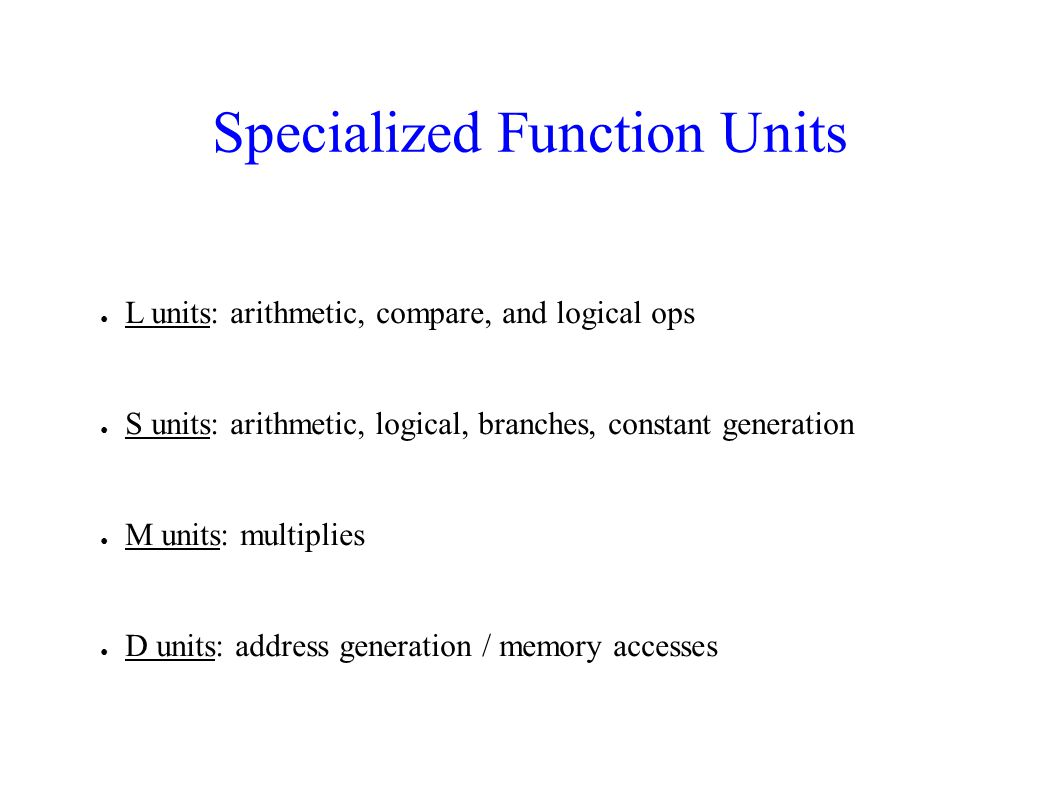 Specialized Function Units