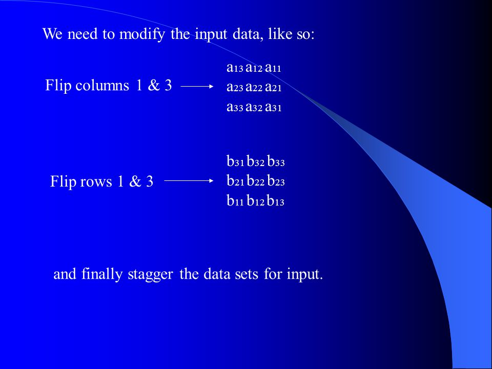 We need to modify the input data, like so: