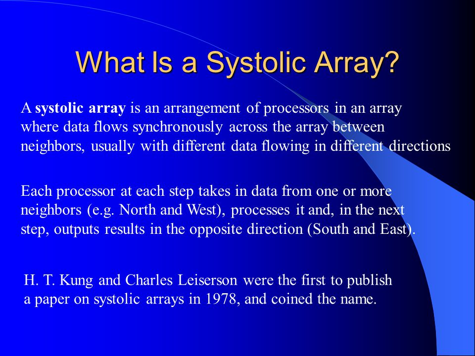 What Is a Systolic Array