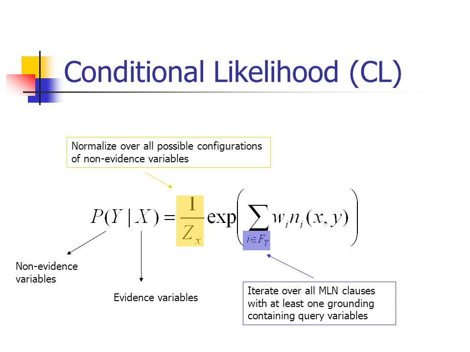 Conditional Likelihood (CL)