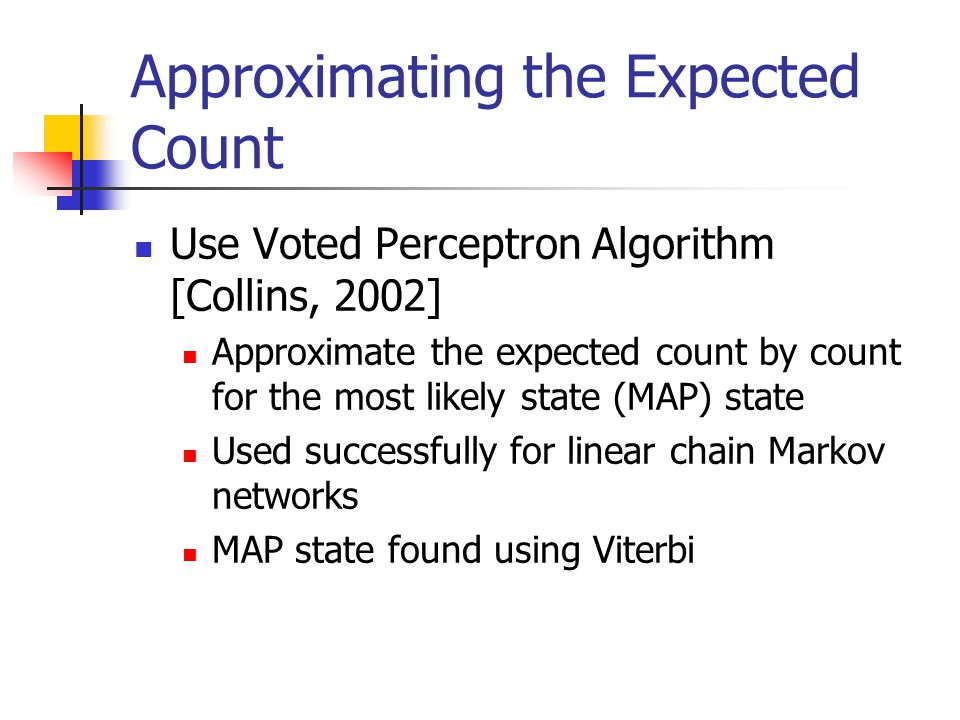 Approximating the Expected Count