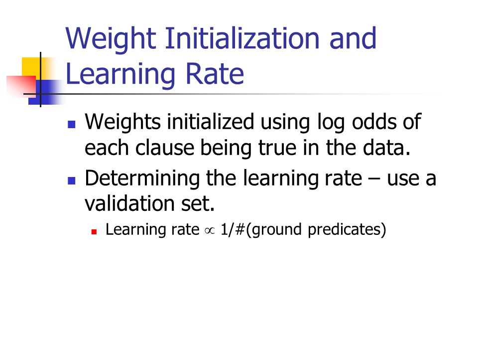 Weight Initialization and Learning Rate