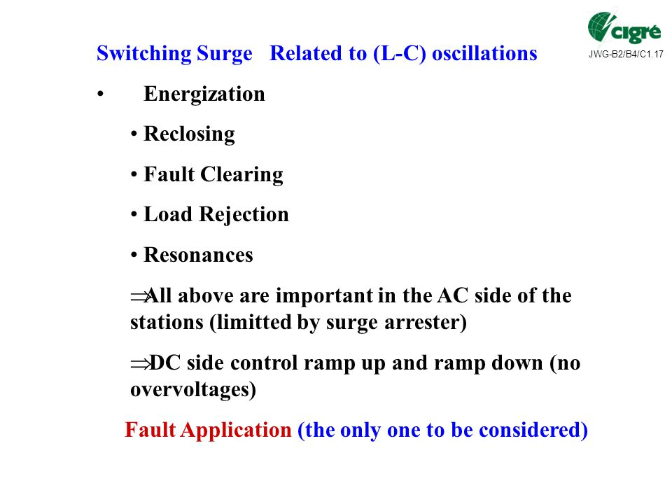 Switching Surge Related to (L-C) oscillations