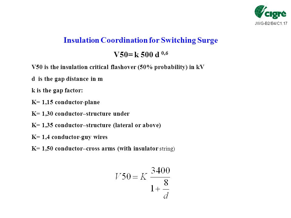 Insulation Coordination for Switching Surge