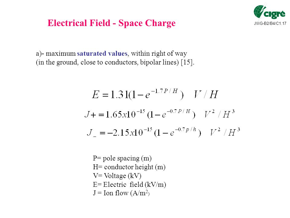 Electrical Field - Space Charge