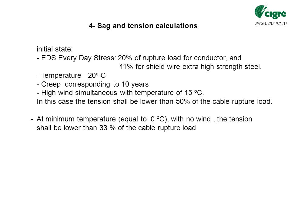 4- Sag and tension calculations