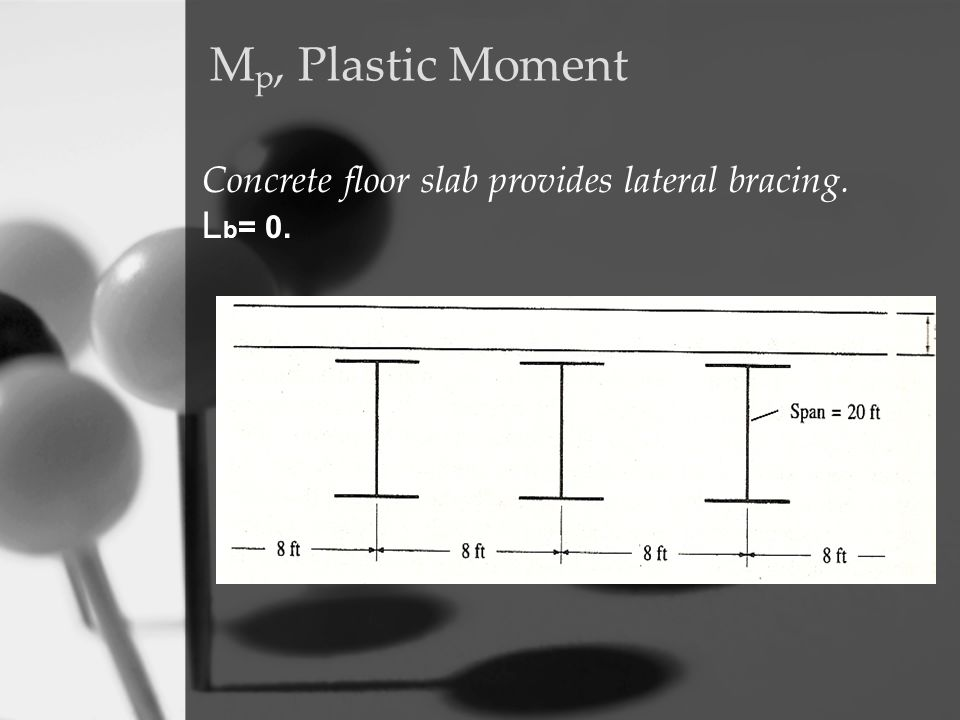 Mp, Plastic Moment Concrete floor slab provides lateral bracing.