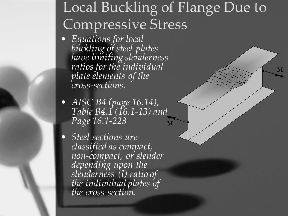 Local Buckling of Flange Due to Compressive Stress
