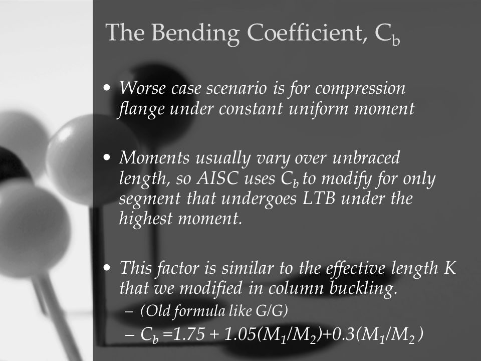 The Bending Coefficient, Cb