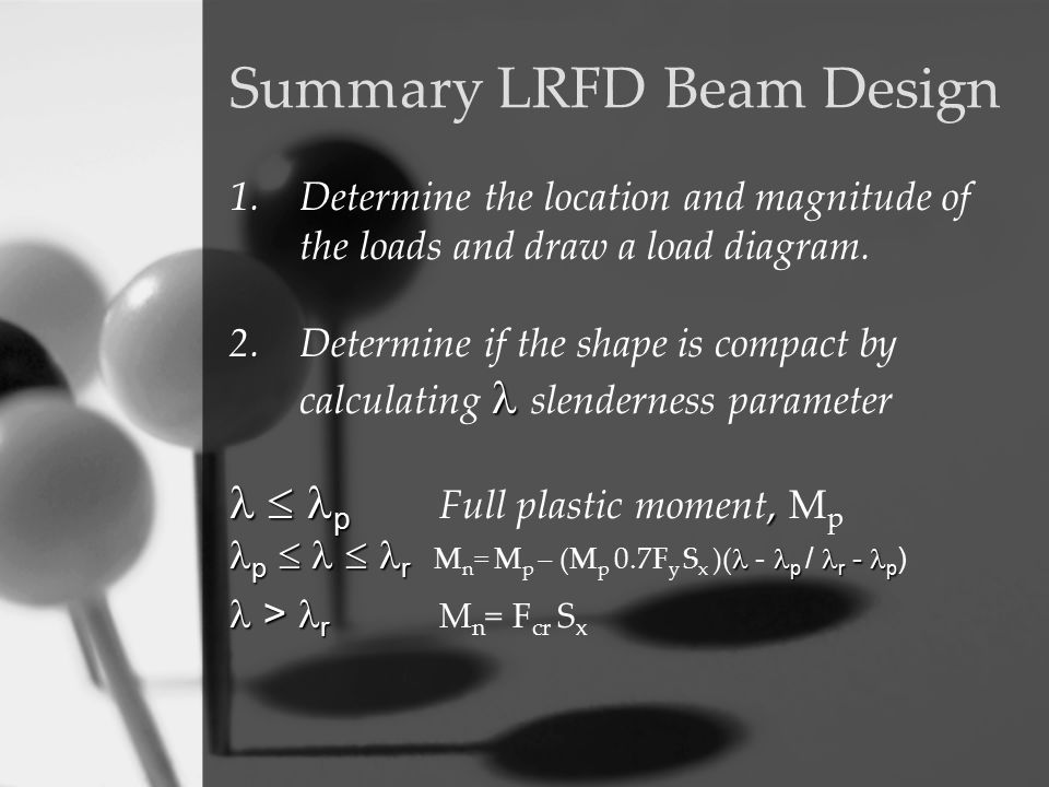 Summary LRFD Beam Design