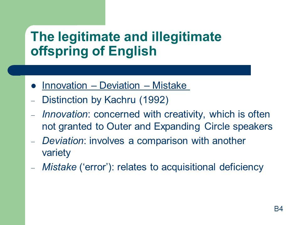 The legitimate and illegitimate offspring of English
