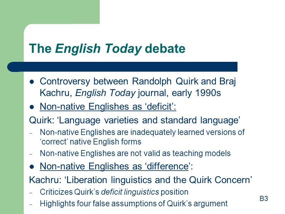 The English Today debate