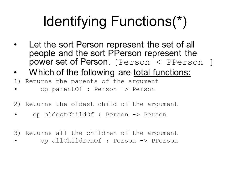 Identifying Functions(*)