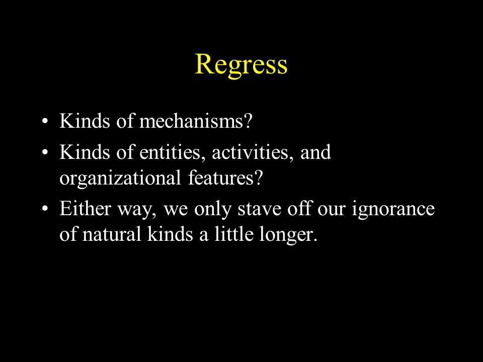 Regress Kinds of mechanisms
