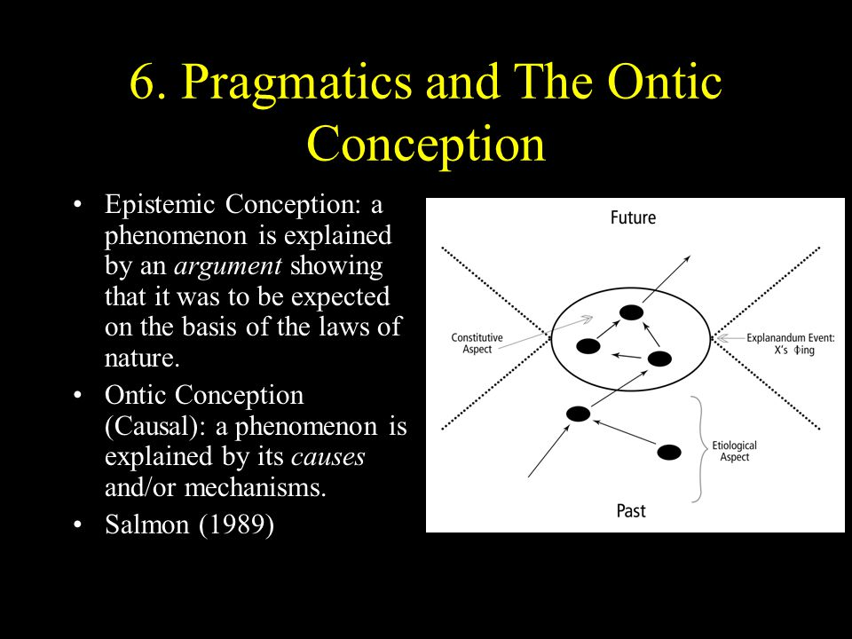 6. Pragmatics and The Ontic Conception