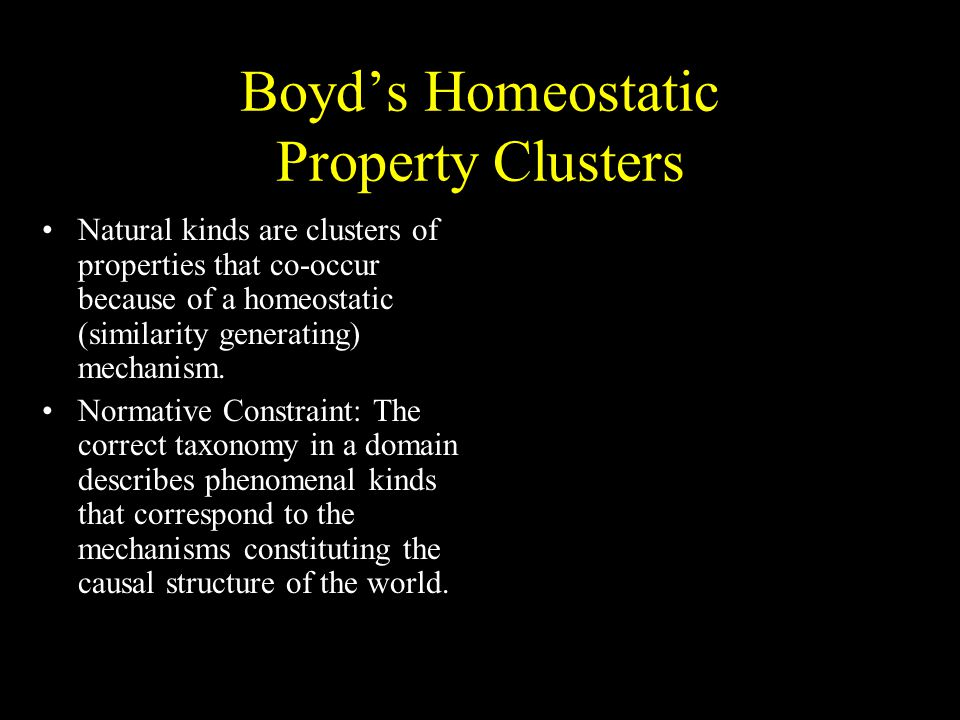 Boyd's Homeostatic Property Clusters